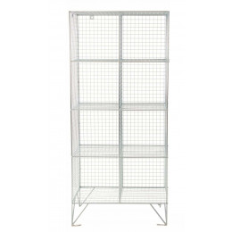 Robinson 8 Door Metal Wire Mesh 305mm deep Storage Locker
