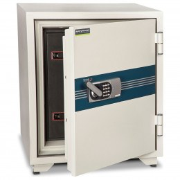 Burton Fire Data Media Security Safe 120 Mins Size 4E - door ajar