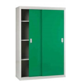Sliding Door Welded Steel Wide Cabinet 183x122x46 - Bedford 84824