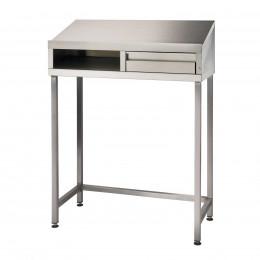 Stainless Steel 4 Leg Sloping Top Desk - Bedford 87SDL