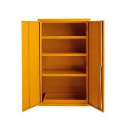 Bedford 88F594 Yellow Flammable 2 Door 1525H mm Cabinet - doors open