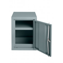Bedford 88H644 COSHH Hazardous 610x459x459mm 1 Door Steel Cabinet - door open