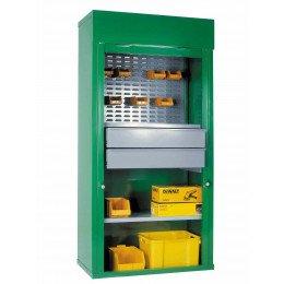 Steel Roller Shutter Cab 2 Dwr 1/2 louvre 1 shelf 200x100x50- Bedford 90215C