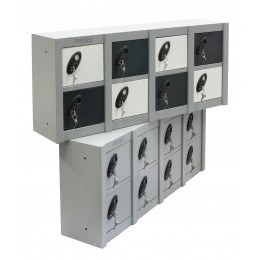 Probe Minibox 8 door stackable locker - showing 2 x Mini 8 Door lockers