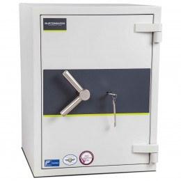 Burton Aver Size 2 Key safe closed showing key in lock
