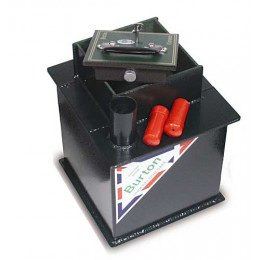 Burton Claymore 12 Deposit Underfloor Safe showing deposit tube and capsules
