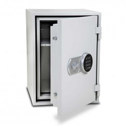 Burton Firebrand Size1 Fireproof Home Electronic Safe - door ajar