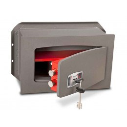 Wall Security Safe Key Locking - Burton Torino DK2K - door ajar