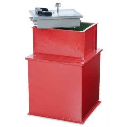 "Burton Watchman 12"" square floor safe showing the rectangular door which allows easier access than a round door"
