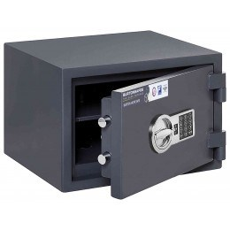 Burton Home Safe 2E Eurograde 0 £6,000 Rated Fire Security Safe - door ajar