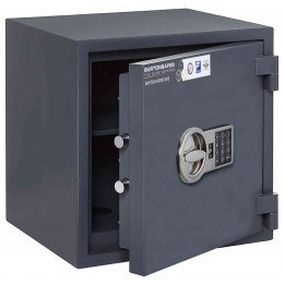 Electronic Grade 0 Security Safe - Burton Home Safe 3E - door ajar