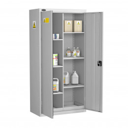 Probe GEN-P COSHH 8 Compartment Steel Cabinet - doors open