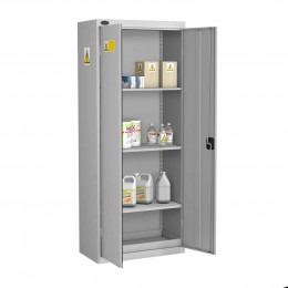 Probe GEN-Q COSHH High Double Door Steel Cabinet - doors open