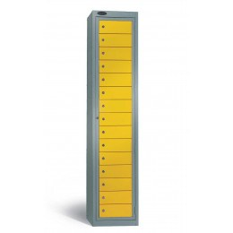 Probe 15 Door Laundry Dispenser Cabinet yellow