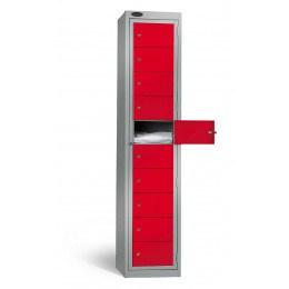 Probe 10 Door Clean Laundry Dispenser Cabinet 1 dispensing door open