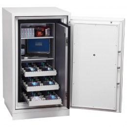 Phoenix Data Commander DS4621F Fingerprint Fire Tape Cabinet - Door Open