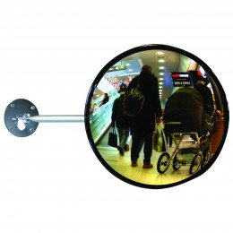 Dancop EC-US-30 Telescopic Arm Convex Wall Mirror - retail use