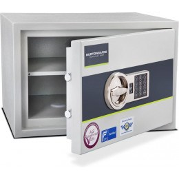 Burton Eurovault Aver 2E Police Approved Security Safe - door ajar