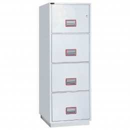 Securikey FCFF4DFCK 4-Drawer Fireproof Filing Cabinet 60 minutes