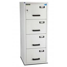 Burton 4 Dr Key Locking Fire Filing Cabinet FF400K MKII 60 mins closed