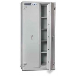 Burton Firesec 10/60/4K Key Lock Security Fireproof  Eurograde 1 Cabinet - door ajar
