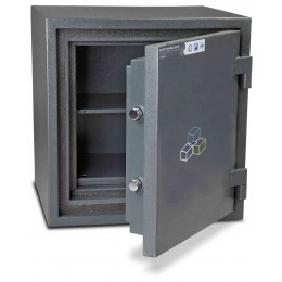 Burton Firesec 4/60 Size 2 S2 Security Fire Safe Key Locking - door open