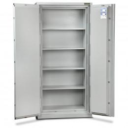 Burton Firesec 10/60/4K Key Lock Security Fireproof  Eurograde 1 Cabinet - doors open