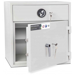 Burton Aver Eurograde 1 Key Locking Cash Deposit Safe Size 1KK  - Door ajar