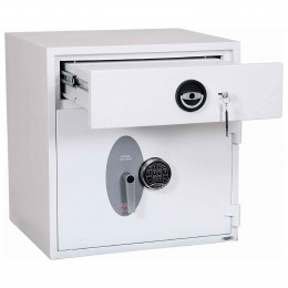Police Approved £10,000 Cash Deposit Safe - Phoenix Diamond HS1191ED Electronic - Drawer open