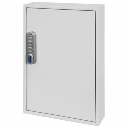 Phoenix KC0502E slightly open inside cabinet is an adjustable hook bars, key tags, key rings, and removable control indexes