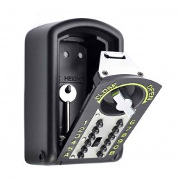 Police Approved - Keyguard Digital XL Mini Key Safe - key safe open with a key
