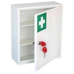 Securikey KFAK01 Wall Mounted First Aid Key Locking Cabinet - Door ajar