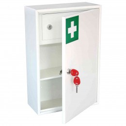 Securikey KFAK02 Wall Mounted First Aid Key Locking Cabinet - Door ajar