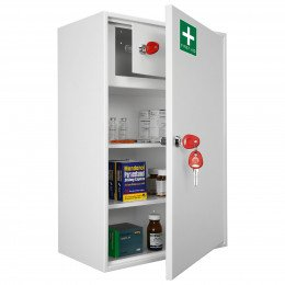 Securikey KFAK03 Wall Mounted First Aid Key Locking Cabinet - Door ajar