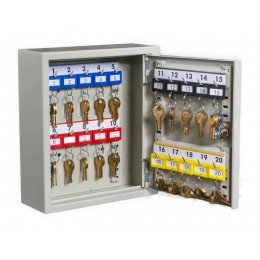 KeySecure KS20 Key Storage Wall Fixed Cabinet 20 Keys - open