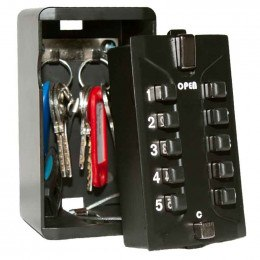 Keysecure KSDIGI Large Push Button Weatherproof Key Safe with 2 hooks for 6-8 Yale style keys.