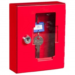 Emergency Key Box plus Hammer Chain - Keysecure KS1-H+C - Door Closed