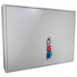 Key Secure KS100P Padlock Storage Cabinet for 100 Padlocks - Safety Lockout Padlock Hasp