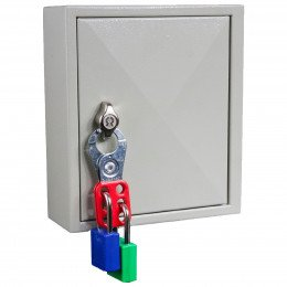 Key Secure KS25P Padlock Storage Cabinet for 25 Padlocks with Safety Lockout Padlock Hasp