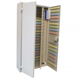 Extra Large 1500 Hook Key Cabinet - stores between 1500 and 3000 keys showing the push button combination lock