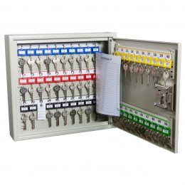 Deep Security Key Cabinet 50 Hooks - Key Secure KSE50D - fully open