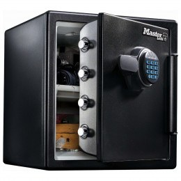 1 Hour Fire Water Digital Safe - Master Lock LFW-123FTC door ajar