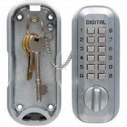Lockey LKS500SC Satin Chrome Digital Large Key Safe - open
