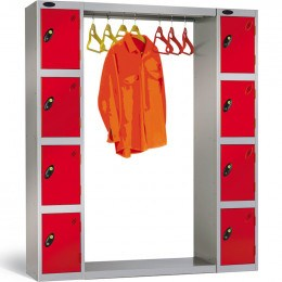 Probe Cloakroom Locker Bridging Connector Type A with integral hanging rail