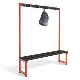 Single Bench with Coat Hooks Black - Probe Type D