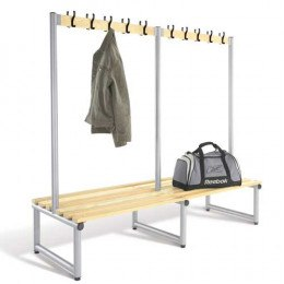 Double Bench with Coat Hooks Ash - Probe Type D