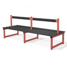 Double Gondola Bench Seat Black Slats - Probe Type C