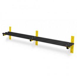 Wall Fixed Bench Black Slats - Probe Type F