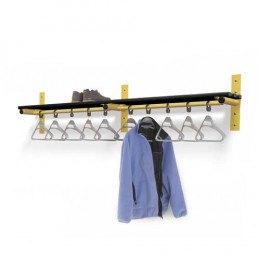 Wall Shelf with Hanging Rail Black Slats - Probe Type E