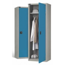 Steel Wardrobe 1 Door for Clothing - Probe SLW702418 - Blue
